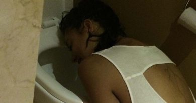 drunk girl puking